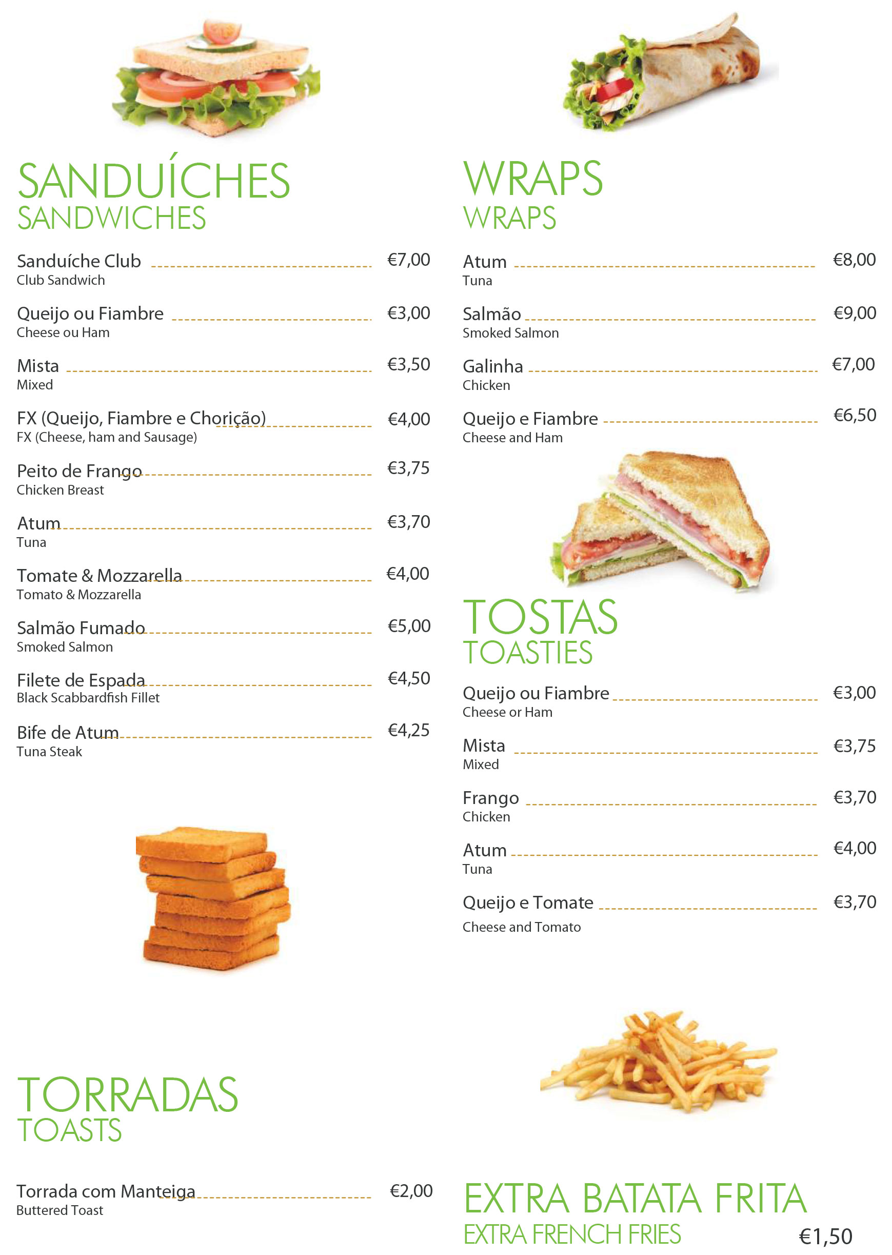 snacks menu 1
