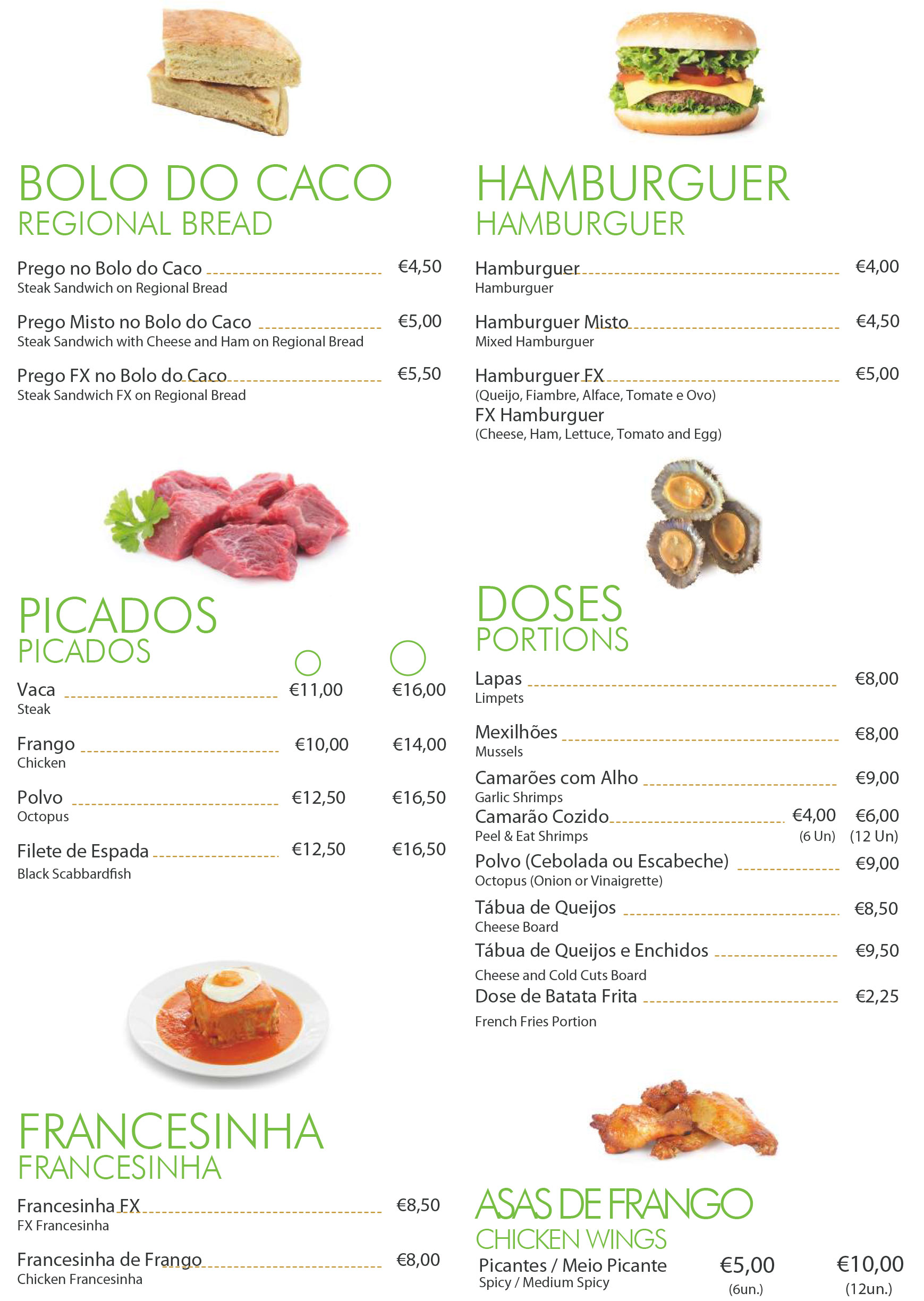 snacks menu 2